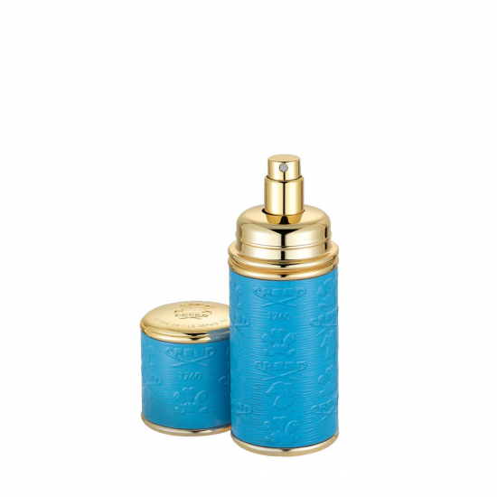 Gold Blue Leather Atomiser (50 ml)