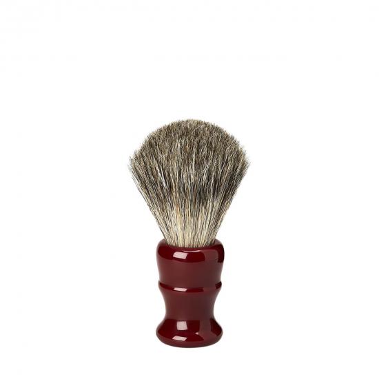Shaving Brush Vintage - Resin Badger Venitian Red