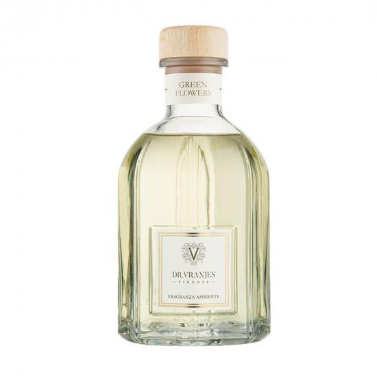 Green Flowers - Glass Bottle (2500 ml)