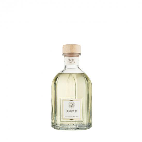 Green Flowers - Glass Bottle (250 ml)
