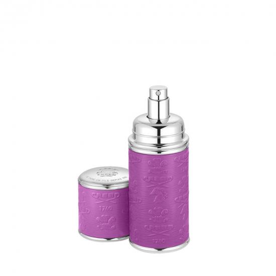 Silver Purple Leather Atomiser (50 ml)