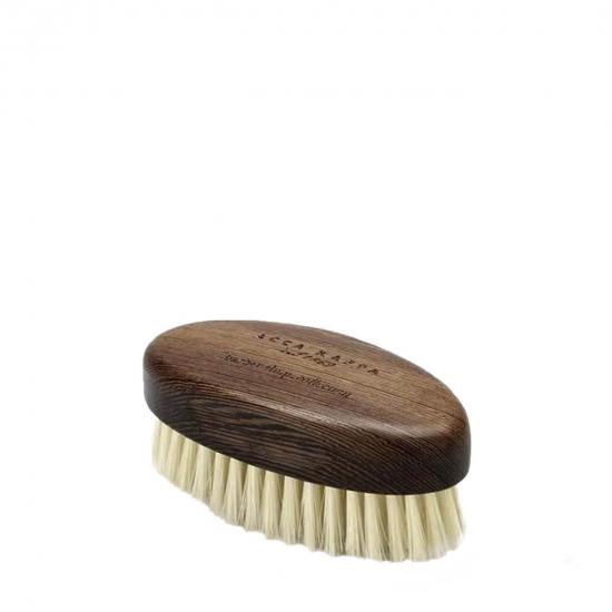 Beard Brush Wenge Wood with Soft Natural White Bristles