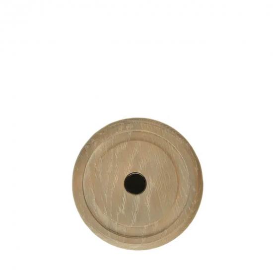 Small Candle Oak Plinth Holder