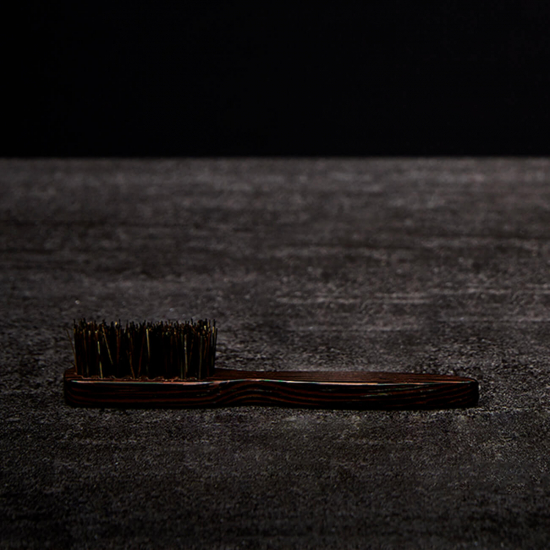 Moustache Brush Wenge Wood with Natural Bristles