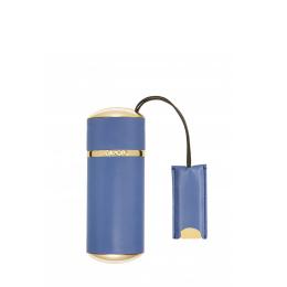 Blue Plain Leather - Travel Case