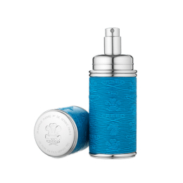 Silver Blue Leather Atomiser (50 ml)