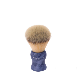 Shaving Brush - Natural Style Synthetic Fibres Blue
